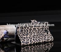 For samsung galaxy Note2 N7100 Wallet leather case with leopard patterns credit card holder case