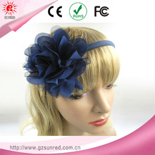 Large Blue Twine Unique Plastic Bow Hair Bands , Headband , Hair Accessories For Women