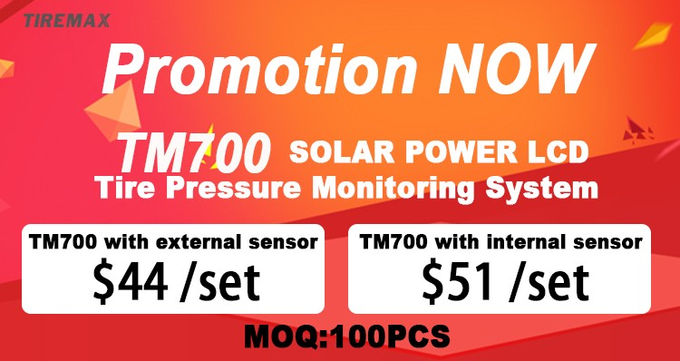 2017 Solar Power TPMS with external/internal sensor tire pressure monitoring system