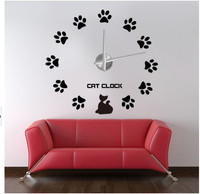 Home Decorative Butterfly wall Stickers kids clock pictures