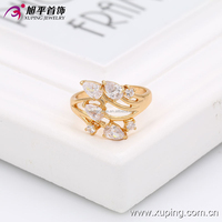 13450xuping Valentine Gift 18K Gold Lady's Jewelry Big Shaped Gold Ring C210244-13450