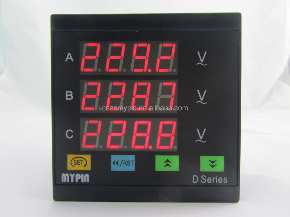 MYPIN 220V voltage meter three phase voltage meter, panel voltage meter ,voltage meter
