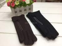 New arrival women brown winter gloves ladies cashmere fleece black gloves cheap cute fashion winter warm mittens gloves