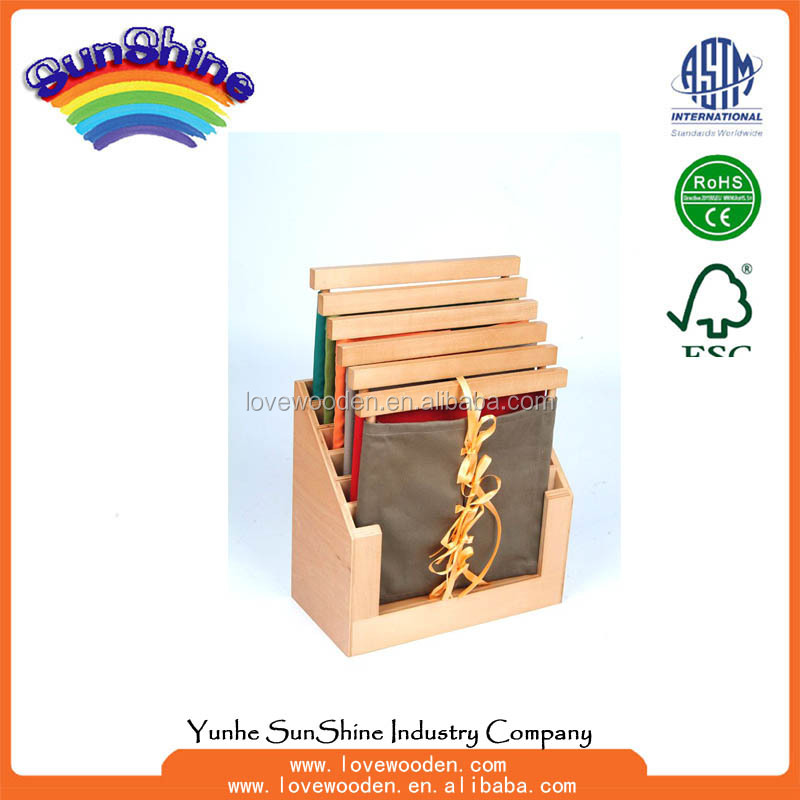 Montessori materials Wood Educational Toys 6 Dressing Frames & Stand , practical life