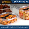 Disposable plastic food compartment tray with lid