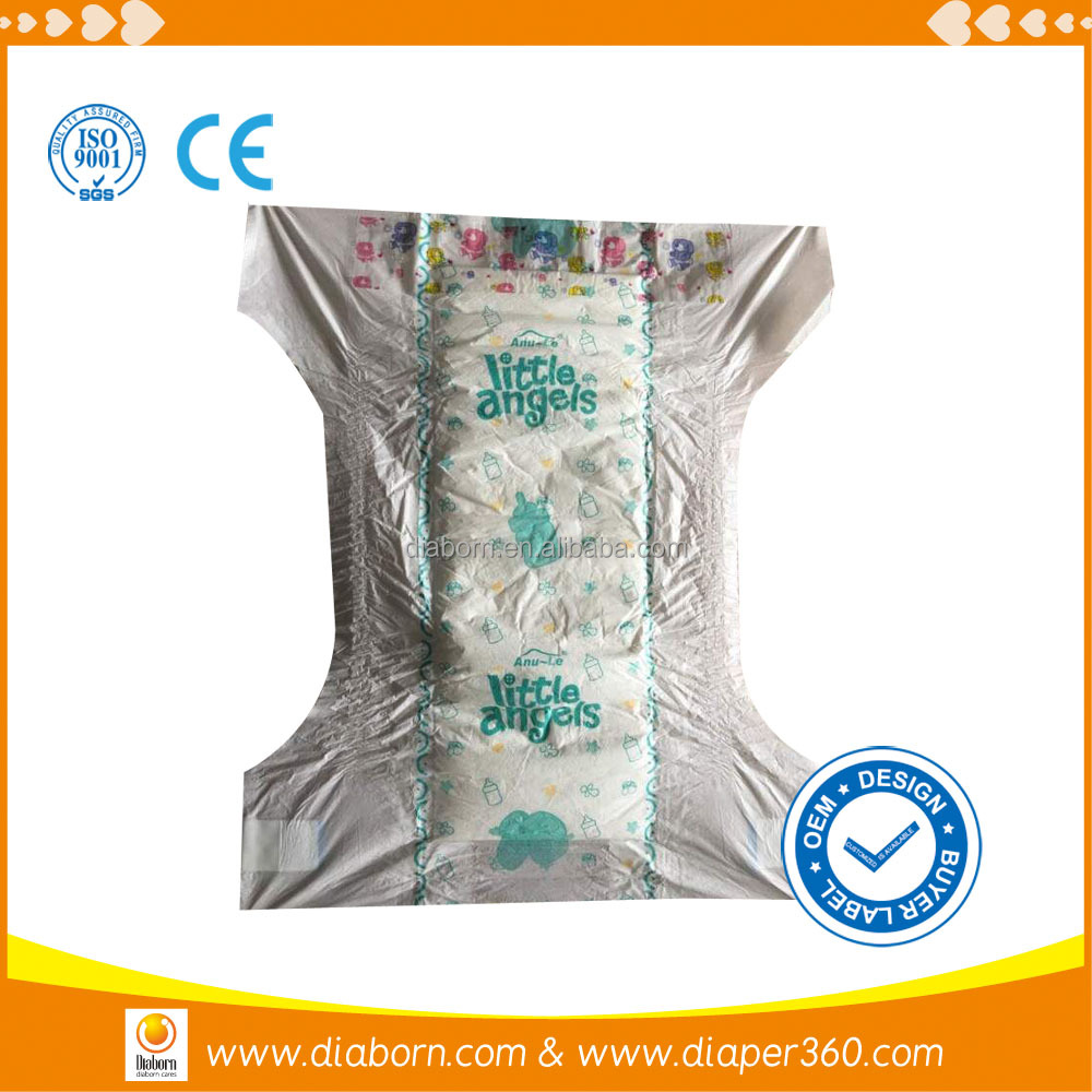 soft dry up surface cute disposable baby diaper with low price