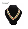 2016 Latest Design Lady Statement Necklace Gold Chain Multi Layer Necklace for Women Fashion Jewelry