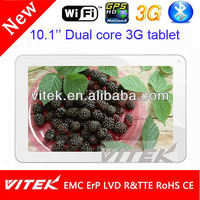 3G wifi best 10 inch cheap capacitive tablet pc