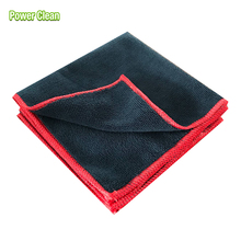 Black Binding Wholesale Microfiber Terry Cleaning Cloth For Auto Care