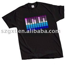 cheap Equalizer light up led t-shirt with charming color