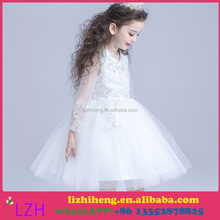 White Ivory First Communion Dresses Cute Little Girls pageant Dresses Tull Ball Gown