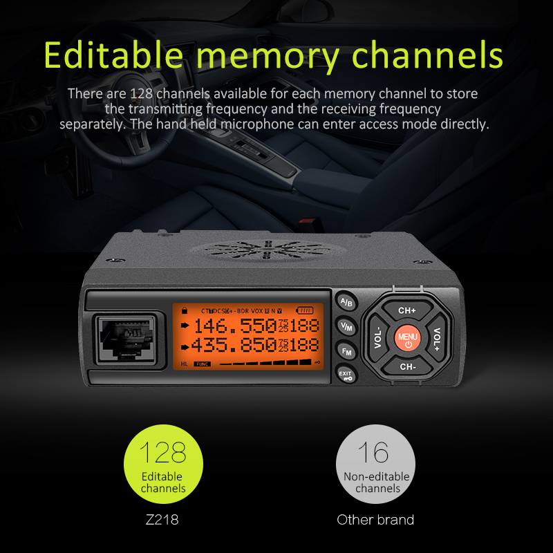 Long range mobile radio transceiver ham car radio with military quality and factory price Z218