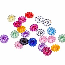 Wholesale Pretty Flatback Glitter 25MM AB Resin Rhinestone