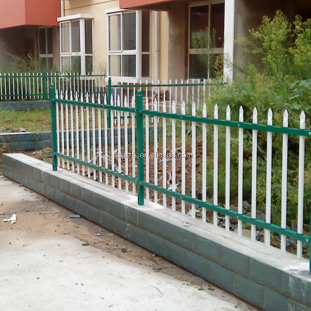 white wrought iron fence