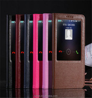 Ultra Thin Slim Flip Genuine Leather Window Case Cover For Huawei Ascend Mate 7