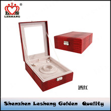 Double layer snake pattern leather jewelry box fashion wedding jewelry multi function jewelry box containing box
