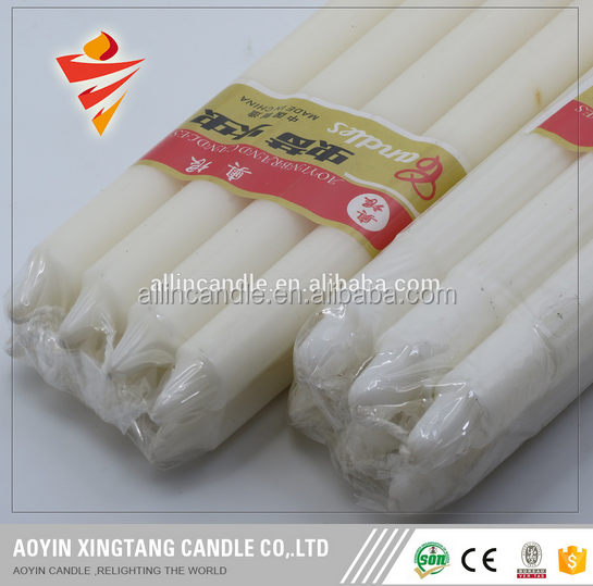 white fluted candles for religious activities votive candle home lighting-Jenny 15630150917