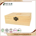 China supplier solid burlywood wooden wine case For the winery