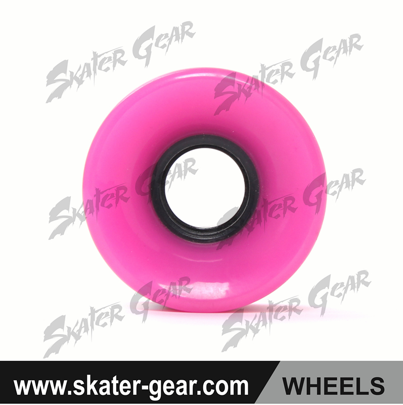 SKATERGEAR rubber caster mold on cast iron wheel e-wheelin i4 unicycle with skateboard wheels