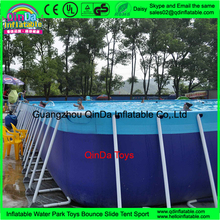 Hot Sale Above Ground Swimming Pool Metal Frame Swimming Pool Water Slide
