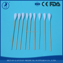 Mini Hard Sharp Point sterile Cotton Swab,ear swab
