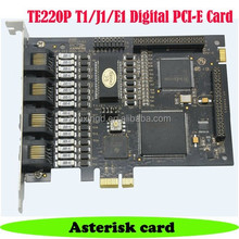 TE220P 2 port E1/T1/J1 Digium Asterisk Digital PCI-E Card
