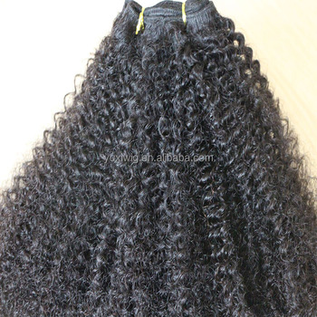 Top quality Virgin kinky curly hair extensions kinky B