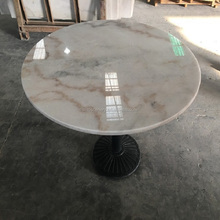 Marble top coffee table with natural Guangxi white stone