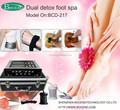 New High-tech Dual System Anion Detox Foot Spa Bath Device