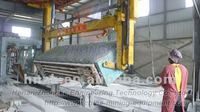 For South America sand AAC block cutting machine(air turning)