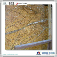 Calcite Marble Type and Rainforest Brown marble slab