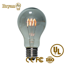 Unique design A60/A19 Crown Half-Chrome Silver Mirror LED Filament Bulb,Top Reflector Lamp