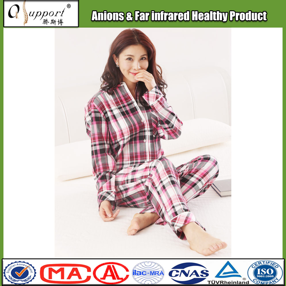 China innovative design ladies' nightclothes anions adult sleepwear