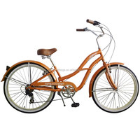 "26"" hot-sale steel 6 speed cruiser Beach bicycle(FP-BB001)"