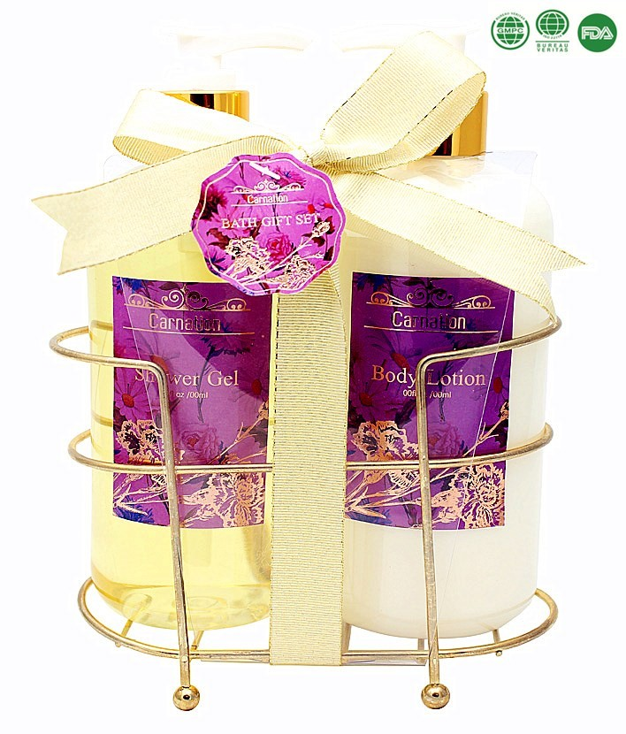 Female anti-bacterial skin care white spa lotion perfume shower gel body care gift set