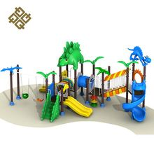 Qunzhen New Selling Good Quality Dinosaur Theme 2 Swing Playground Outdoor Wooden