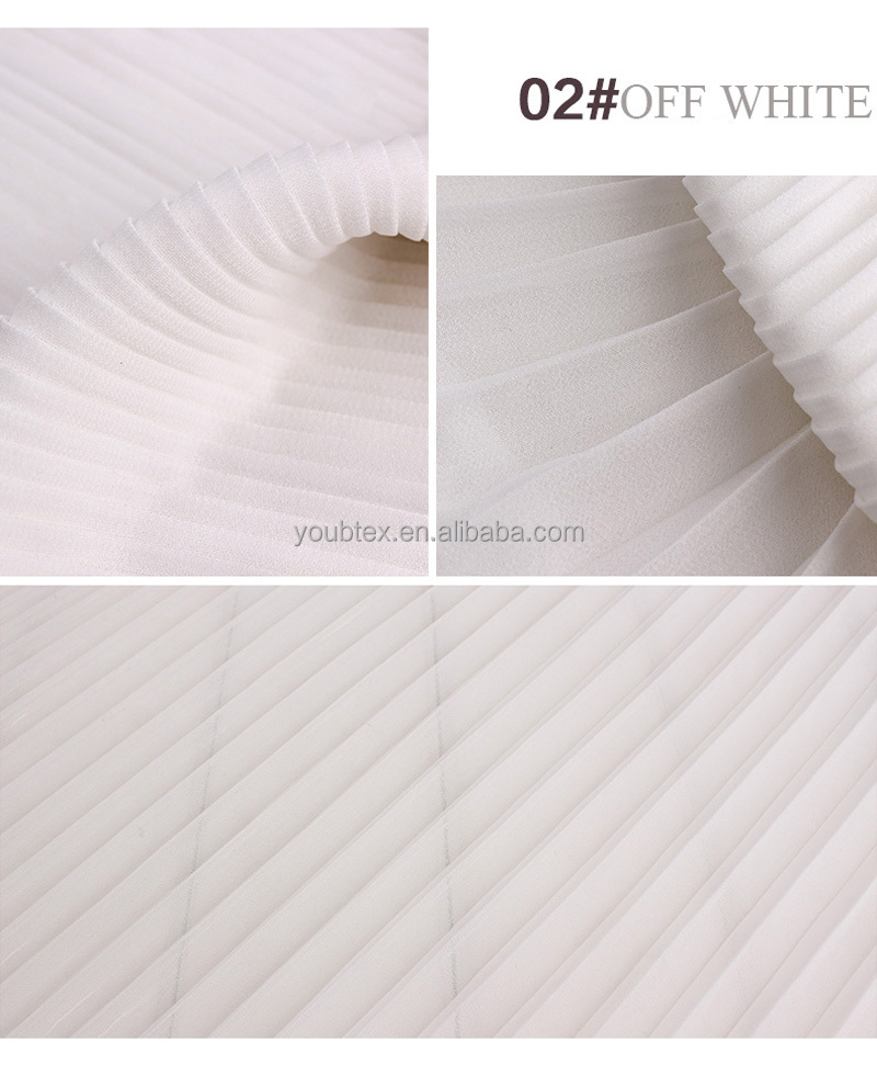Widely used superior quality 75D 100% polyester crinkle chiffon fabric