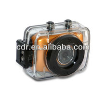 Shenzhen dropshipping HD 720P SPORT CAMERA 190A with Touch Screen and Waterproof 20 meters
