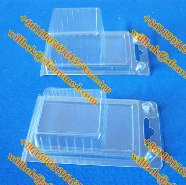 Custom clear blister clamshell packaging with hanger,clear PVC/PET clamshell blister with paper card and free sample