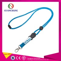 Plastic Coil Bungee Cord Lanyard With Lobster Clip And Rings