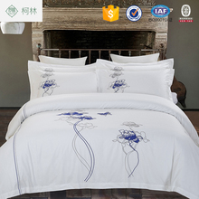 Winter brand name satin hotel bed sheets set