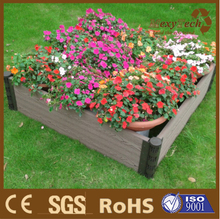 outdoor wpc composite wood street flower box