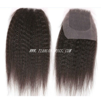 kinky straight original brazilian virgin human hair top piece Alibaba express China Hair Extensions