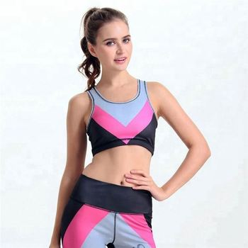 Low price running underwear vest gathered stripe yoga bra without rims