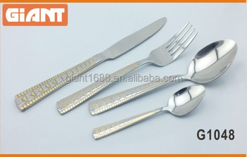 Brazil gold plated stainless steel flatware 410 201