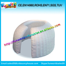 White Inflatable tents for trade show,mini office tent