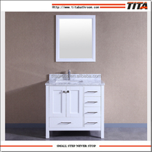 American Tall Bathroom Vanity with Marble Countertop