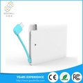 2016 new design 2600mah portable mobile power bank credit card power bank