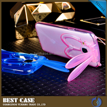 Cute Soft Transparent Bunny Rabbit Ear TPU Bumper Case Cover For Samsung Galaxy E7 E700