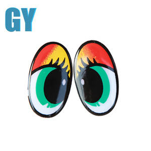 Colorful Toy Eyes Cartoon Toy Eyes Plastic Elliptical Eyes For Diy Crafts